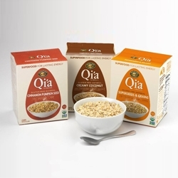 Qi'a Launches Hot Cereal Offering