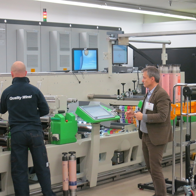 Digital flexo press on display at REVO Open House