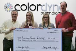 Colordyne provides sponsorship to Relay for Life