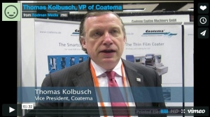 Thomas Kolbusch, Coatema VP and Exhibition Chair for LOPEC 2015