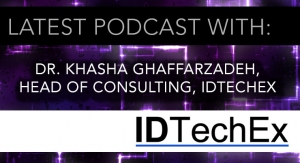 Dr. Khasha Ghaffarzadeh, Head of Consulting for IDTechEx