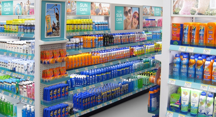 Technology is changing the retail experience, educating consumers at the point of sale, as with Walgreens' digital signage unit for sun care, produced by Mechtronics, Beacon, NY, for Energizer Personal Care.
