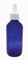 ABA Packaging Stocks Blue Glass Bottles and Droppers